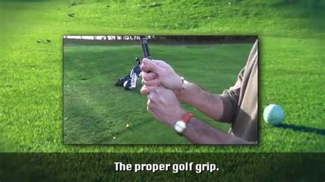 natural golf swing grip the proper golf grip one minute instruction youtube