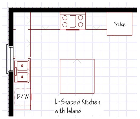 l shaped kitchen with island floor plans kitchen island designs
