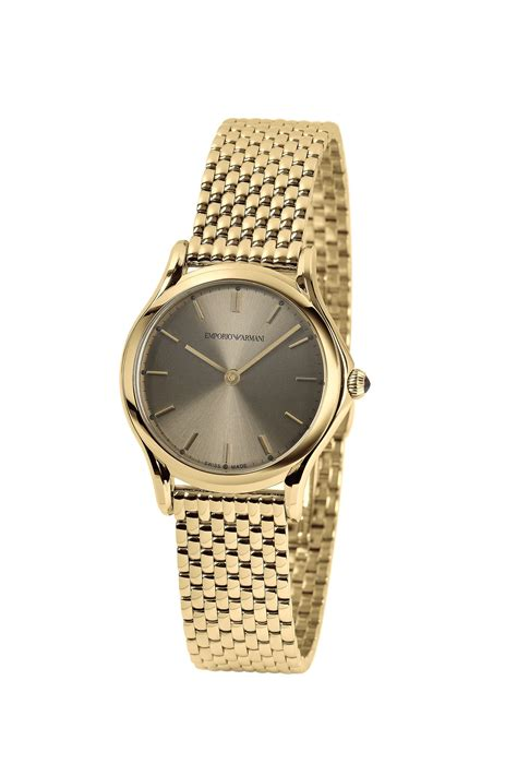 emporio armani swiss made collection in gold