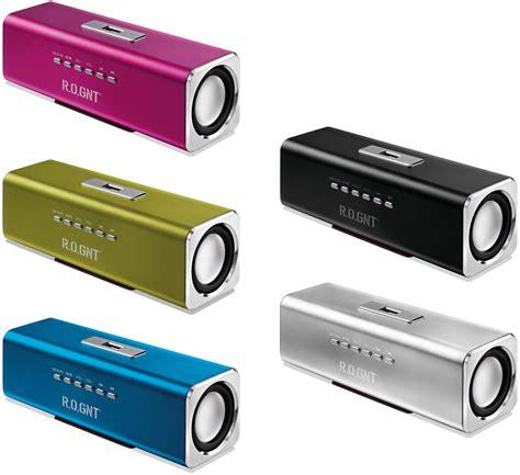 Speaker Usb r o gnt 0604 28 portable usb mp3 speaker fm radio 80db 600mah micro sd usb pink