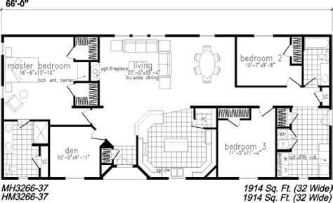 3 bedroom home floor plans house design plans