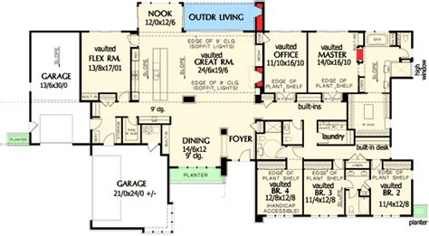 luxury ranch house plans for entertaining plan w69510am stunning contemporary ranch home plan e