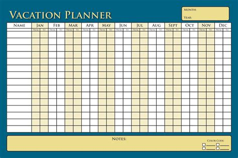 vacation planning calendar template vacation planner calendar template calendar template 2016