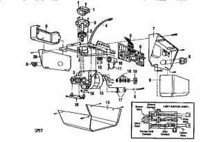 opener assembly diagram parts list for model 13953664srt craftsman parts garage door opener