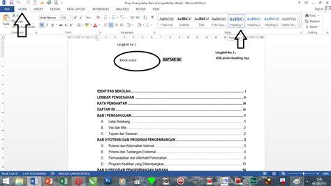 membuat daftar isi otomatis word 2013 cara membuat daftar isi otomatis di word 2013 sekedar trick