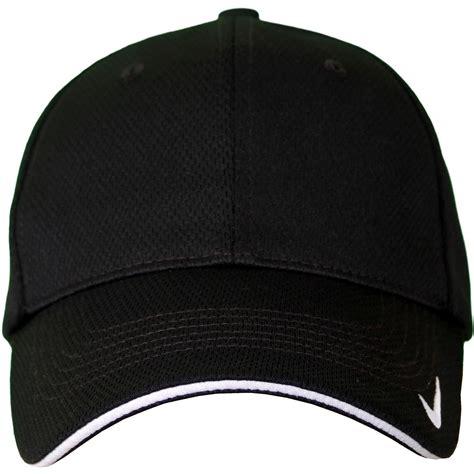 golf cap black nike golf dri fit mesh swoosh flex sandwich cap s m