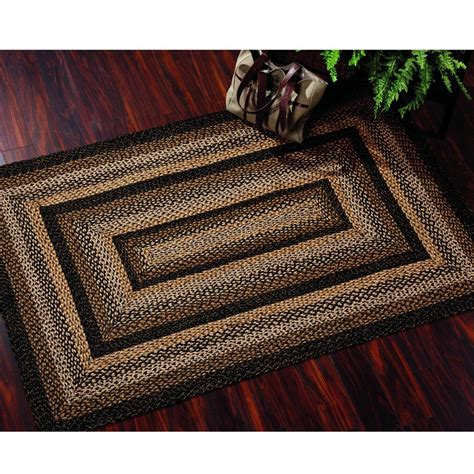 Primitive Country Area Rugs Ihf Home Decor Country Primitive Rectangle Braided Area Rug Black Forest 20 X 30