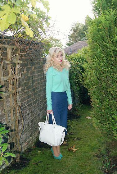 Clarice Handbag Blue clarice hornby primark jumper boohoo skirt primark