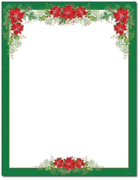 christmas stationery printer paper beautiful christmas
