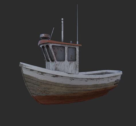 small fishing boat models 3d fbx small fishing boat