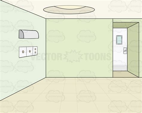 Room Wall Clipart Empty Room With Green Walls Background Vector Clip
