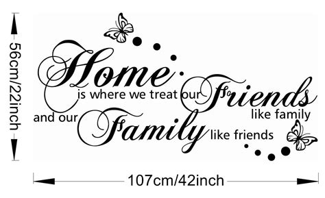 Wholesale Home Decorations vinyl wall stickers like family english proverbs wall