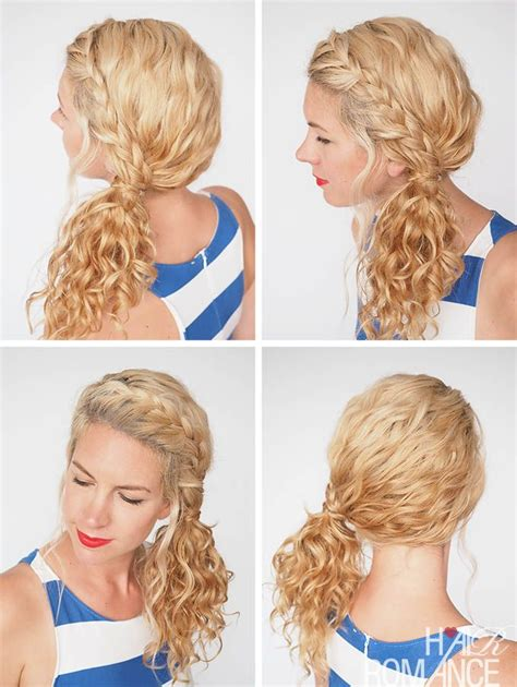 Braided Hairstyles Overnight by Best 25 Curly Hair Ponytail Ideas On