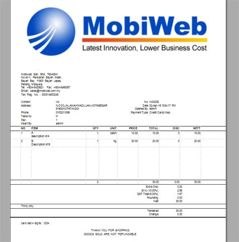 sle invoice gst goods and services tax invoice gst