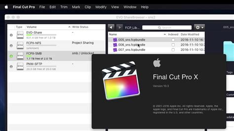 final cut pro library size final cut pro x libraries with smb shared storage first