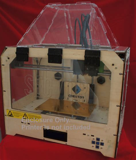 design works 3d home kit enclosure for replicator 1 3d printer clones tabsynth