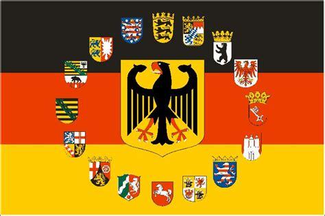 fahne deutschland adler mit  bundeslaender wappen
