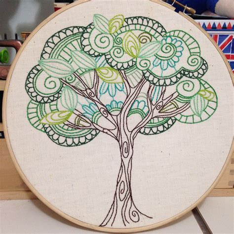 design for embroidery stitches tree of life from 3and3 quarters blog amazing needlework