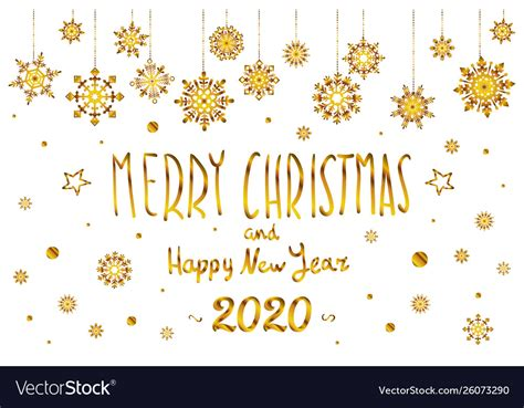 gold merry christmas  happy  year  year vector image