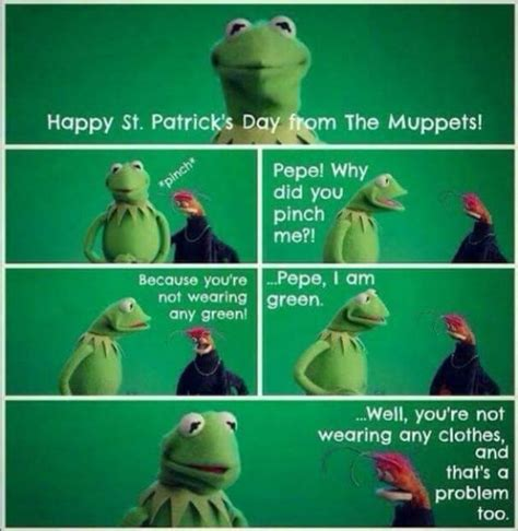 Happy St Patricks Day Meme - 17 best sesame street quotes on pinterest bert ernie