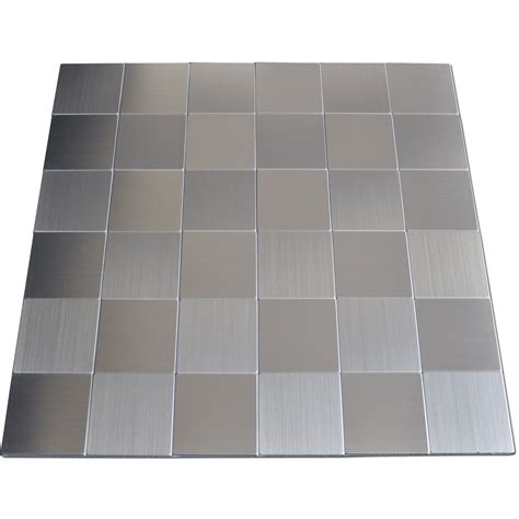 metallic backsplash tiles peel stick self adhesive metal tiles 10 pcs stainless peel n stick
