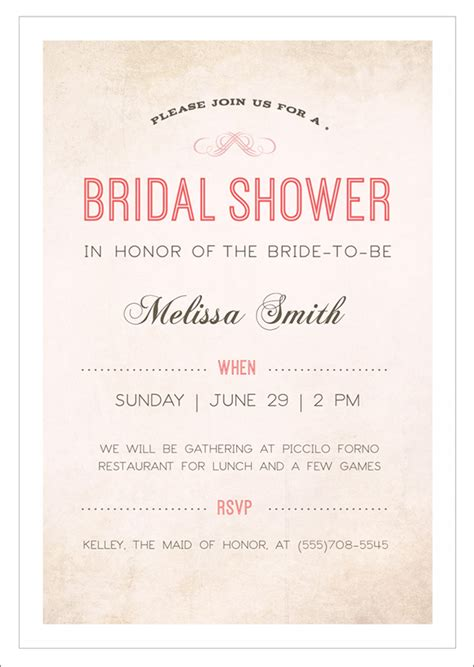 free sles of bridal shower invitations 22 free bridal shower printable invitations all free