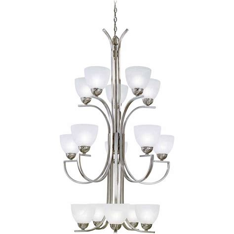 Dining Room Chandeliers Brushed Nickel Volume Lighting 8 Light Brushed Nickel Interior Chandelier