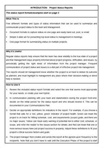 Software Project Report Template by Sle Project Status Report Template 6 Free Word Pdf