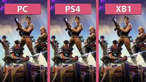 fortnite with xbox and pc fortnite pc vs ps4 vs xbox one frame rate test