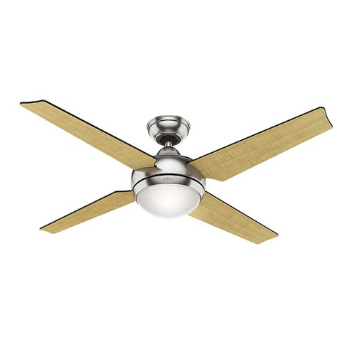 hunter regalia brushed nickel ceiling fan hunter sonic 52 in indoor brushed nickel ceiling fan with