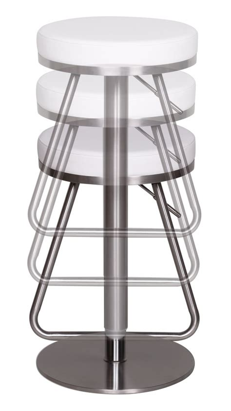 Stainless Steel Swivel Bar Stools by Bar Stool Stainless Steel Brushed Faux Leather Swivel Kitchen Breakfast New Ebay
