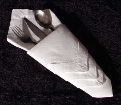 Paper Napkin Folding With Silverware - ways to fold paper napkins with silverware