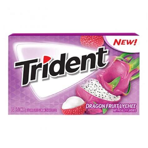 Hysteria Dragonberry Gum Chewing Gum Trident Fruit Du Litchee