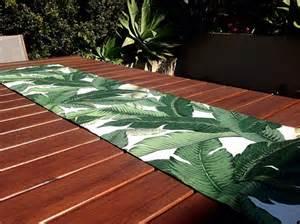 Patio Table Runner Table Runner Tropical Decor Outdoor Decor Banana Leaf Palms