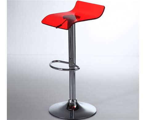 Acrylic Dining Room Table by Wilton Red Acrylic Gas Lift Bar Stool