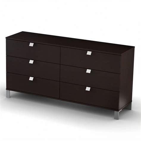 south shore cakao dresser in chocolate 3259010