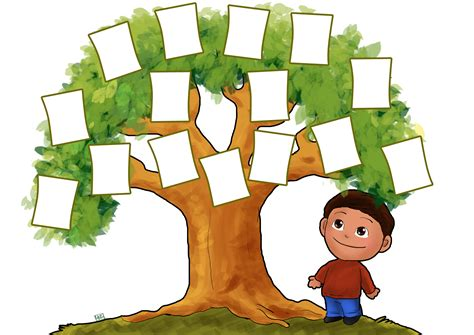 family tree template for children clipart best
