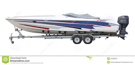 boat trailer clipart speedboat on the trailer stock images image 34598654