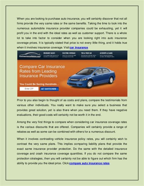 Compare Insurance Rates by Car Insurance Rates Compare Car Insurance Rates