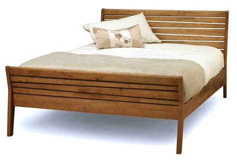 Wooden Bed Frame Designs Brown Wooden Bed Frame With Striped Headboard And Footboard Also Four Legs Of Alluring Size