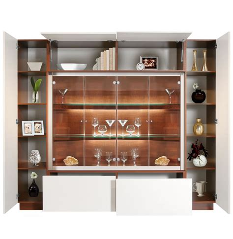 jamison display cabinet modern glass curio concealed storage contempo space