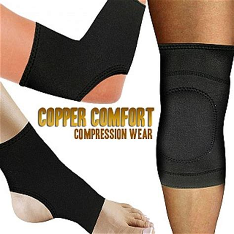 copper comfort copper comfort compression wear for knee elbow or ankle