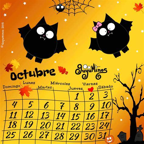 Calendario De Octubre 2015 Calendario De Octubre 2015 Guyuminos