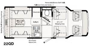 rialta rv floor plans 2005 winnebago rialta 22qd 21 8 quot vw volkswagen for sale