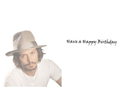 Johnny Birthday Card Personalised Johnny Depp Birthday Card Ebay