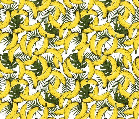 banana fabric wallpaper tropical bananas fabric adehoidar spoonflower