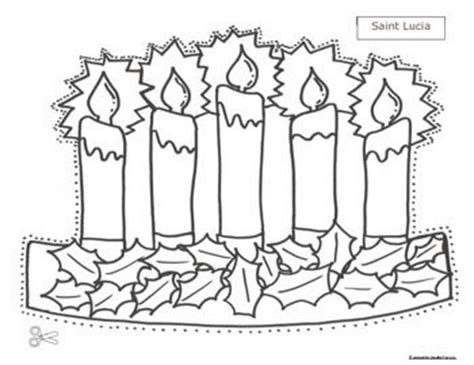 printable st lucia crown st lucia christmas pattern hats and activities cscope cc
