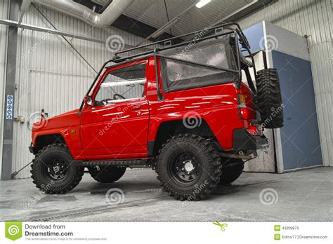 daihatsu rocky offroad 1988 daihatsu rocky in car service editorial stock photo