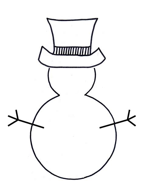 printable preschool snowman template snowman outline clipart best