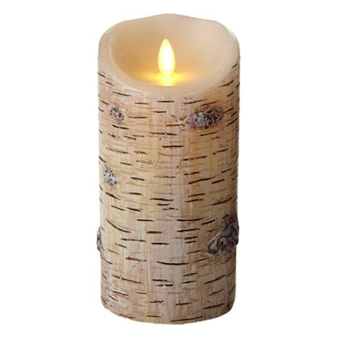 luminara fireless candle ultra realistic flameless candle luminara 02169 3 5 quot x 7 quot birch unscented wavy edge